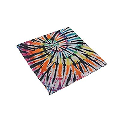 Bardic HNTGHX Outdoor/Indoor Chair Cushion Swirl Tie Dye Pattern Square Memory Foam Seat Pads Cushion for Patio Dining, 16