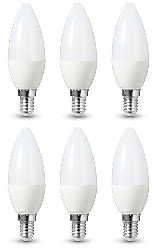 AmazonBasics LED-E14, 6 W mit einer Leuchtkraft von 40 W, 470 Lumen, Dimmbar, 6er-Pack