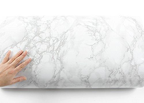 ROSEROSA Peel and Stick PVC Instant Marble Decorative Self-Adhesive Film Countertop Backsplash Napoleon Marble (PGS408 : 4.00ft X 6.56ft) by ROSEROSA (Image #3)