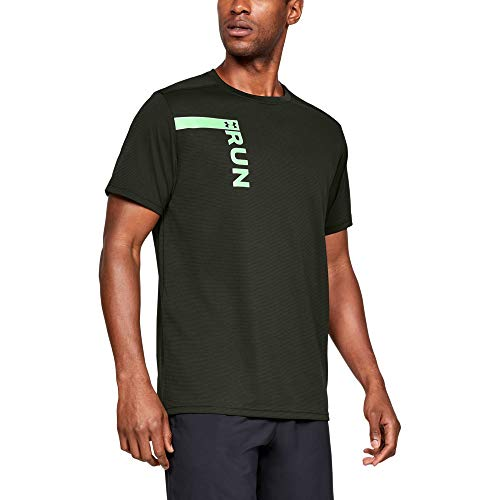 (Under Armour Men's Run Tall Graphic Short sleeve Shirts, Artillery Green (357)/Reflective, Large)