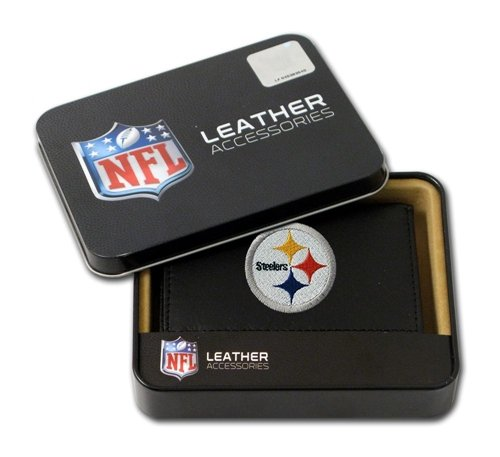 (Pittsburgh Steelers Embroidered Leather Tri-Fold Wallet)