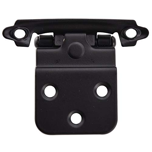 KINGO HOME Face Mount Self Closing Black 3/8'' Inset Cabinet Hinges, 50 Pack by KINGO HOME (Image #4)