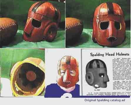 Executioner Face Guard Leather Football Helmet (1920-1930s) by Past Time Sports