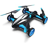 MKLOT JJRC H23 Flying Car Drone Air Ground Dual Mode Quadcopter 3D Flips 6-Axis RTF w/ One-key Return Headless Mode Led Lights Helicopter Best Gift for Boys Kids Children