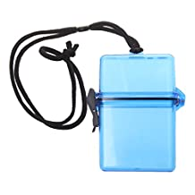 Outdoor Waterproof Airtight Dry Box Plastic Phone Case Holder Key Money Storage Container Camping Beach - Blue, 7mm