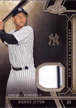 2015 Topps Tier One Relics #TSR-DJ Derek Jeter Game Worn Jersey Baseball Card w/ Pinstripe! - Only 399 made! - Near Mint to Mint ()