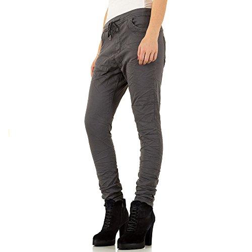 Low Boyfriend Jogger Jeans Für Damen , Grau In Gr. 36 bei Ital-Design