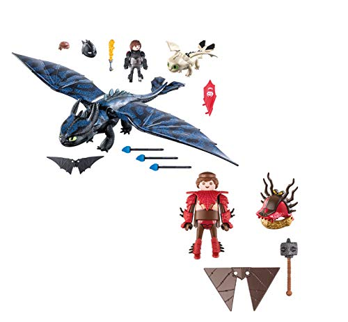 - PLAYMOBIL® Snotlout with Flight Suit and Hiccup and Toothless with Baby Dragon