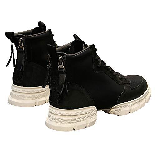 Noir Rismart Semelle Femmes Tennis Chaussures Mode Désinvolte Baskets Plate forme Divisé vBpgPqv