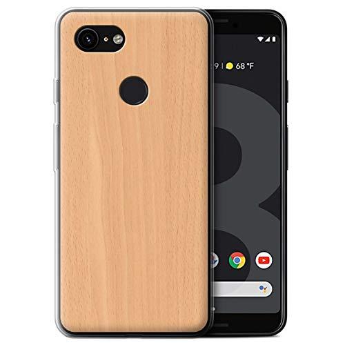 STUFF4 Gel TPU Phone Case/Cover Google Pixel 3 / Beech Design/Wood Grain Effect/Pattern ()