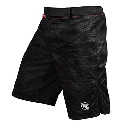 Hayabusa Hexagon Workout and MMA Shorts (Black, Large)