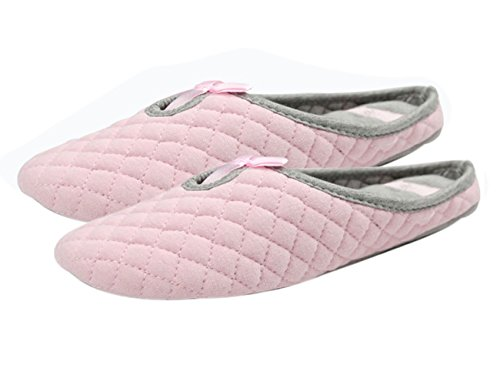 FakeFace - Zapatillas de estar por casa para mujer rosa Rose Rosa