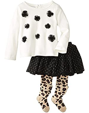 Baby Girls' Leopard Skirt Set