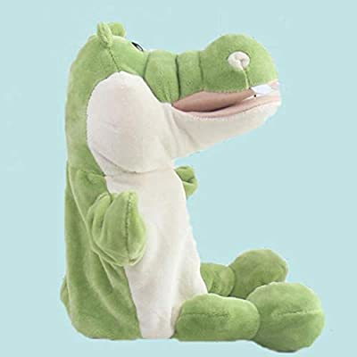 Cuiedailqhb Cute Cartoon Alligator Crocodile Kids Hand Puppet Soft Doll Stuffed Plush Toy: Toys & Games