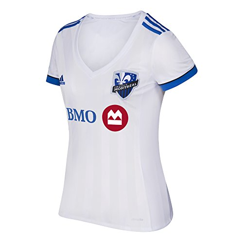 MLS Impact Montreal Adult Women Replica S/Wordmark Jersey,X-Large,White