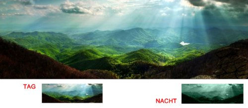 Startonight Canvas Wall Art Carpathian Mountains, Mountain USA Design for Home Decor, Dual View