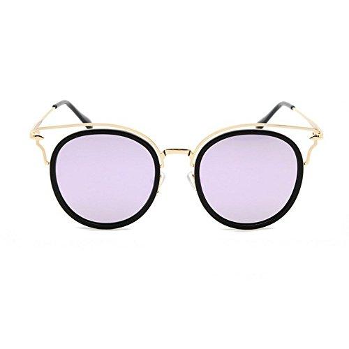Gafas Coloridas HD De Sol Gafas Sol del Negra púrpura Gafas De JUNHONGZHANG del Sol Gato Gafas Rebanada Moda Grandes Ceniza De De Polarizadas Marco dAzpqqwHc5