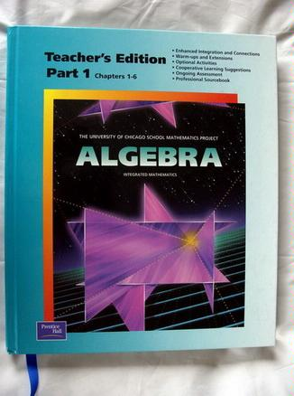 Algebra (The University of Chicago School Mathematics Project, Part 1 Chapters 1-6) pdf