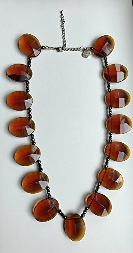 [Rust Crystal Hematite Necklace] (Coco Chanel Costume Jewellery)