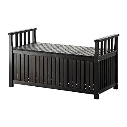 Amazon.com : Ikea Storage bench outdoor, black-brown stained ...