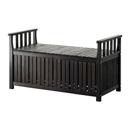 Ikea Storage bench outdoor, black-brown stained black-brown 426.11265.386 by IKEA