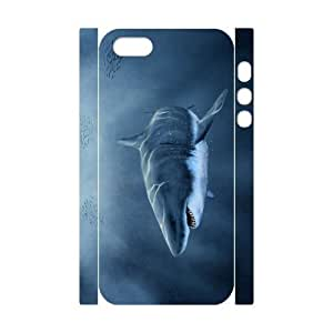 3D Bumper Plastic Customized Case Of Deep Sea Shark for iPhone 5,5S