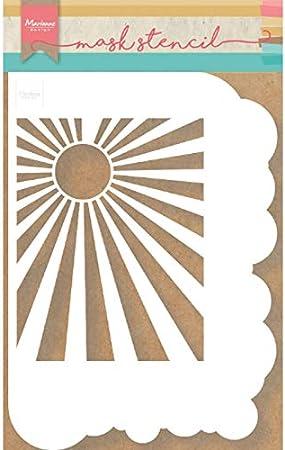 Medium Opaque Mylar Marianne Design Mask Stencil