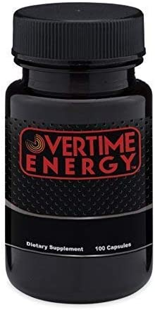 OVERTIME ENERGY Pills – 100 Capsules – Best Energy Booster Supplements That Work Fast for Women and Men