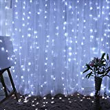 Ucharge Curtain Lights Led Icicle Christmas