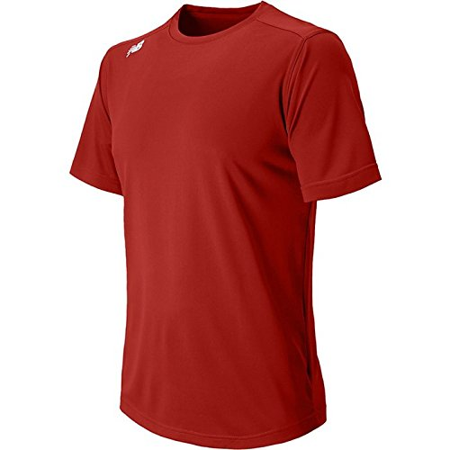 New Balance Menns Nb Kort Ermet Wicking Tech Tee Shirt Sedona Rød