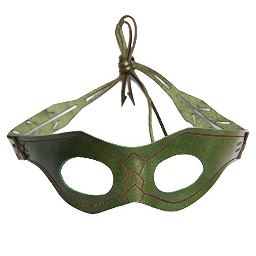 Queen Mask (XCOSER New V3 G.A. Hero Mask Oliver Queen Cosplay Black Eye Patch for Halloween)