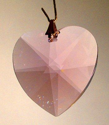 Swarovski 28mm Rosaline Large Crystal Faceted Heart