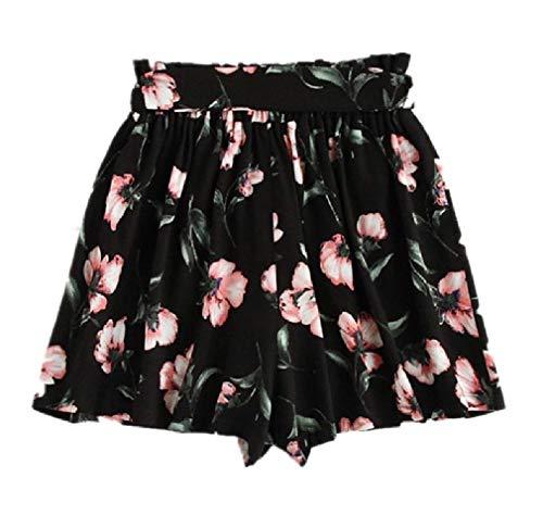 Unastar Womens Wide Leg Classics Plus-Size Pork Chop Pocket Beach Panties Black L ()