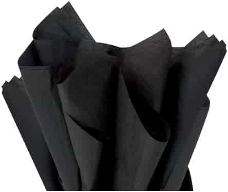 Brand New Black Bulk Tissue Paper 15 x 20-100 Sheets-Flexicore Packaging®