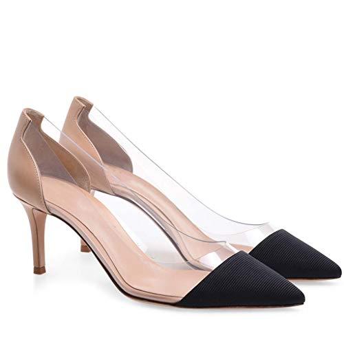 Hochzeitsschuhe Schuhe Mund Damen LFF Absatzhöhe FF Hochhackig Große Sexy Spleißen cm 8 5 mit Pure Gut Einzelne Bankett Spitz Farbe Flacher Schuhe Größe xaafOwqn