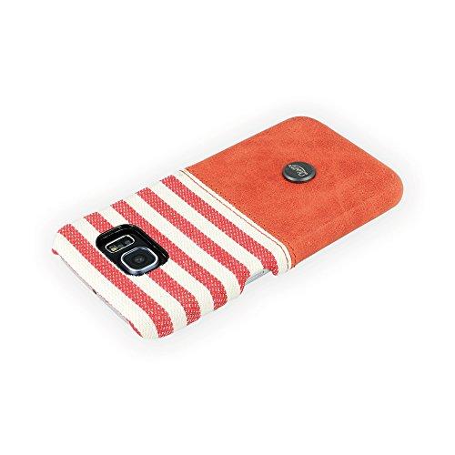 QIOTTI QX-C-0110-04-SGS6 Snapcase Q.Snap Denim Premium Echtleder für Samsung Galaxy S6 rot