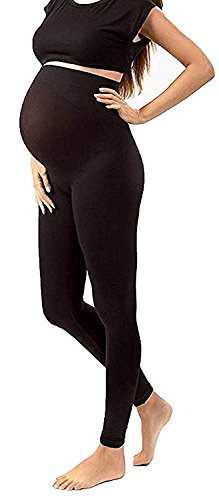 Maternity Tights Activewear Leggings Gym Clothes Jeggings Pants Super Stretch Nursing Clothes (Maternity, Black Maternity Leggings) by Shop Pretty Girl (Image #1)