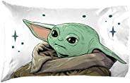 Jay Franco Star Wars The Mandalorian Curious Child 1 Pack Pillowcase - Double-Sided Kids Super Soft Bedding -