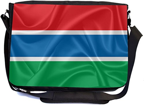 Saint Vincent and the Grenadines Flag - Messenger Bag - School Bag (UKBK) by Rikki Knight