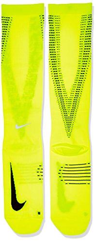 Nike U NK ELT Comp OTC–Calze per uomo Giallo / Nero / Argento riflettente (Volt / Black / Reflect Silver)