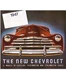 1947 CHEVROLET Sales Brochure Literature Book Piece