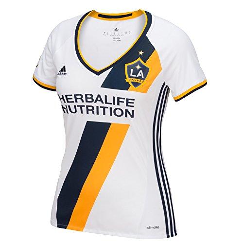 MLS LA Galaxy Women's Replica Short Sleeve Team Jersey, White, Large