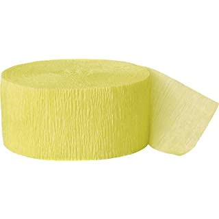 81ft Canary Yellow Crepe Paper Streamers