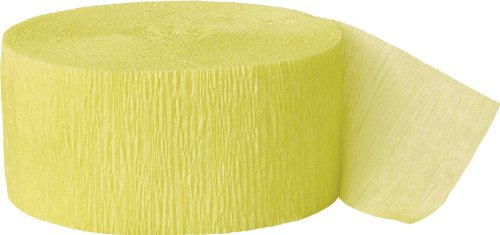 Crepe Paper Streamers, 81 Feet, Canary Yellow