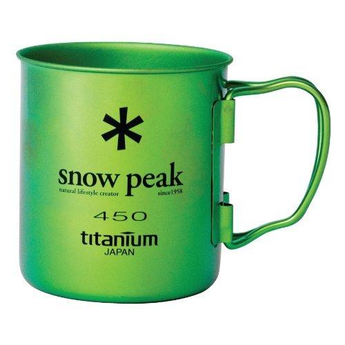 Snow Peak Ti Single Wall 450 Mug, Ocean (Snow Peak Titanium Folding Cup)