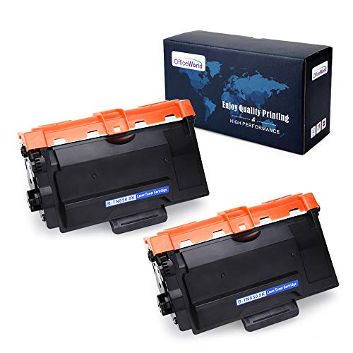 Office World 2 Packs TN850 Compatible Toner Cartridge Replacement for Brother TN850 TN 850 TN820 (Black),Compatible with Brother HL-L6200DW HL-L6200DWT HL-L5200DW MFC-L5900DW MFC-L5700DW MFC-L5800DW