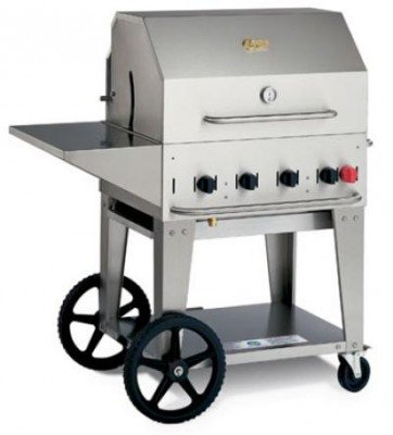 Crown Verity Stainless Steel Mobile Outdoor Charbroiler Grill, 30 inch -- 1 each.