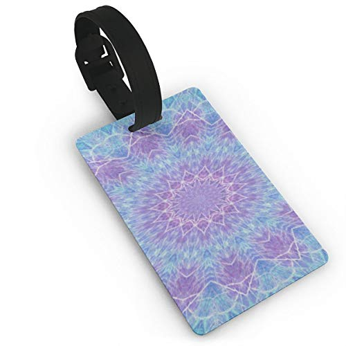 Luggage Tags Colorful Mandala Floral Unique Baggage Name Tag Holder Labels