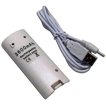 Batería Recargable Blanca para Mando Wiimote compatible con Wii