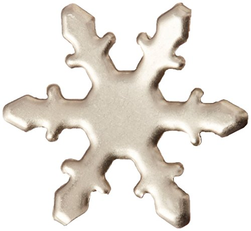 (CREATIVE IMPRESSIONS CI95006 Metal Paper Fasteners 50/Package, Pewter Snowflakes)